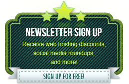 Sign up to For Impression newsletter to receive web hosting discounts, social media roundups, and more! Sign up for free!